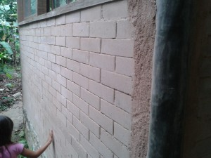 Bricks from rammed earth.