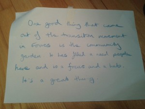 The Fores community garden brought people together